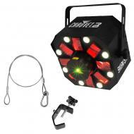 Chauvet Swarm 5 FX LED Rotating Derby Fixture Package w/ Truss Clamp and Cable