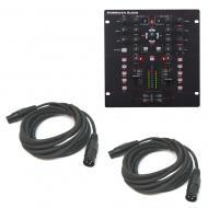 "American Audio 10 MXR 10"" 2-Channel Mixer w/ (2) 15 Foot Universal XLR Cable"