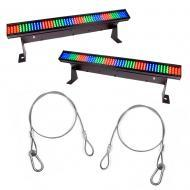 Chauvet COLORstrip Minix2 LED Linear Wash Lighting Fixture Package w/ DMX Cable