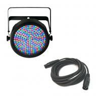 Chauvet SLIMPAR64 SlimPAR RGB LED Par 64 with 15 Ft. Length 3-Pin DMX Cable