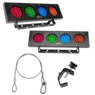 Chauvet 09-DJ BANKx2 (2) LED RGBY Light Bank w/ 24-Inch Safety Cable & C Clamp