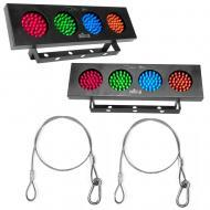 "Chauvet 09-DJ BANKx2 (2) LED RGBY Light Bank w/ (2) 24"" Safety Fixture Harness"