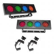 Chauvet 09-DJ BANKx2 (2) LED RGBY Light Bank with 2 DJ Lighting Truss C Clamp
