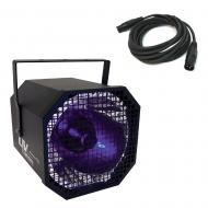 American DJ UV Canon 400-Watt Blacklight Fixture Package w/ 15' 3-Pin DMX Cable
