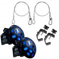 American DJ (2) Vertigo Hex LED Moonflower Effect Fixtures w/ Clamps & Harnesses