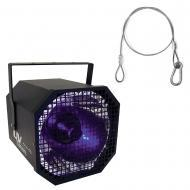 "American DJ UV Canon 400-Watt Blacklight Fixture w/ 24"" Zinc-Plated Safety Cable"