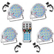 American DJ (4) Jelly Par Profile Portable LED Fixtures w/ (4) Clamps & Remote