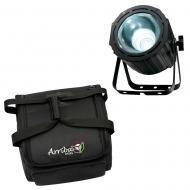 American DJ Lightning COB Cannon LED Strobe/Wash Fixture w/ AC414 Transport Bag