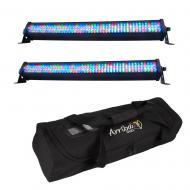 American DJ (2) Mega Go Bar 50 RGBA LED Linear Fixtures Pack w/ AC206 Padded Bag