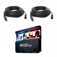 American DJ Quad Scan Pro 4x10W RGBW LED Lighting Fixture w/ (2) 50 Ft.DMX Cable