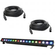 American DJ ULTRA KLING BAR 18 1 Meter LED Linear Fixture with (2) 50' DMX Cable