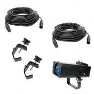 American DJ FS600LED 60 Watt LED Pro Follow Spot w/ (2) 50' DMX Cable & C-Clamps