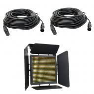 American DJ TVL1000 II HIGH CRI 40W LED Light Panel with (2) 50-Feet DMX Cable