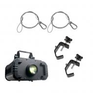 American DJ IKON LED 60-Watt White LED Gobo Projector w/ 2 Safety Clamps & Cable
