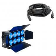 American DJ DOTZ PANEL 2.4 2x4 COB TRI LED Wash/Blinder Fixture w/ 50' DMX Cable