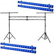 American DJ 4 ECO UV Bar DMX Bright Linear LED Fixtures w/ Portable Truss Stand