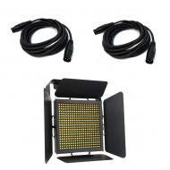 American DJ TVL1000 II HIGH CRI 40W LED Light Panel with (2) 15-Feet DMX Cable