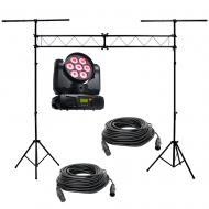 American DJ INNO COLOR BEAM QUAD 7 RGBW LED Movinghead w/ Truss & (2) DMX Cable