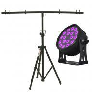 American DJ SIXPAR 300IP 18x12-Watt 6-in-1 RGBAW UV LED Par with Tripod Stand
