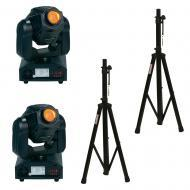 American DJ (2) XMOVE LED 25R 25-Watt Moving Head Fixtures w/ (2) Tripod Stand