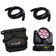 American DJ INNO COLOR BEAM QUAD 7 Cree RGBW LED Moving Yoke w/ Case & DMX Cable