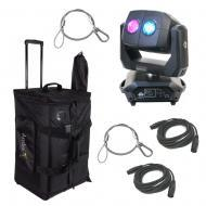 American DJ 3 SIXTY 2R Dual Moving Head Fixture w/ Bag, Safety Clamp & DMX Cable