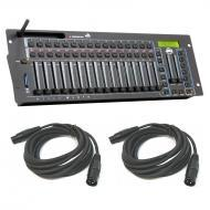 American DJ WIFLY WLC16 16-Channel Wireless DMX Controller w/ (2) 15' DMX Cables