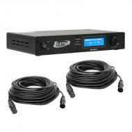 Elation Lighting ENODE 4 ArtNet to DMX Ethernet Node with (2) 50 Foot DMX Cables