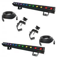 Chauvet Lighting (2) COLORband Pix IP LED Strip Wash w/ 2 DMX Cables & 2 Clamps