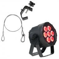 Elation Lighting SIXPAR 100IP 7 x 12W 6-in-1 Par w/ Safety Cable & Truss Clamp