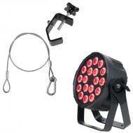 Elation Lighting SIXPAR 300IP 18 x 12W 6-in-1 Par w/ Safety Cable & Truss Clamp
