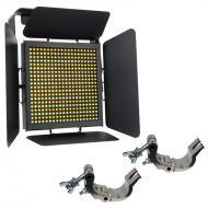 Elation Lighting TVL1000 II High CRI Dynamic 400 LED Panel w/ 2 Truss Clamps