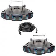Chauvet Lighting (2) Derby X LED Dance Effect Package w/ 2 50-foot DMX Cables
