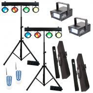 American DJ (2) DOTZ TPAR SYS All-in-One LED Fixture Package w/ Mini Strobe LED