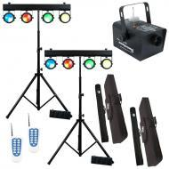 American DJ (2) DOTZ TPAR SYS All-in-One LED Fixture Package w/ Fog Storm 700