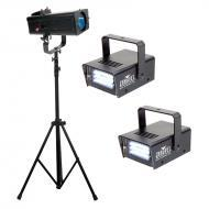 American DJ FSL101/SYS FS600LED Follow Spot System w/ 2 Mini Strobe LED Fixtures