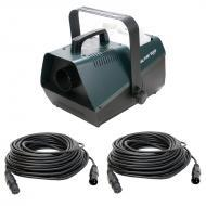 American DJ FOG FURY 3000 1500W Fog Machine with (2) 50-Foot 3-Pin DMX Cables