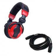 American DJ HP550 LAVA Over-Ear Headphones with 15-Foot Active Speaker/Mic Cable