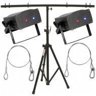 American DJ (2) Micro Royal Galaxian Laser Package w/ Tripod Stand & 2 Harnesses