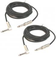 "(2) DJ Pro Audio 15 Foot 1/4"" to 1/4"" Jack PA Speaker Pair Cable Package New"