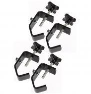 "(4) DJ Pro Lighting Fixture 2"" Truss or Pipe Mounting Steel C Clamp Package New"