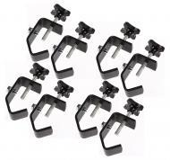 "(8) DJ Pro Lighting Fixture 2"" Truss or Pipe Mounting Steel C Clamp Package New"