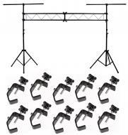 DJ Pro Audio Light Trussing 10 Foot Portable Truss Lighting System (10) C Clamps