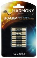 Harmony Audio HA-AGU30 Car Stereo Fuseholder 5 Pack 30 Amp AGU Fuses - Nickel