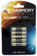 Harmony Audio HA-AGU40 Car Stereo Fuseholder 5 Pack 40 Amp AGU Fuses - Nickel