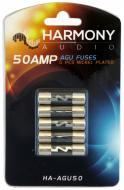 Harmony Audio HA-AGU50 Car Stereo Fuseholder 5 Pack 50 Amp AGU Fuses - Nickel