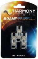Harmony Audio HA-MIDI80 Car Stereo Fuseholder 3 Pack 80 Amp MIDI Fuses - Nickel