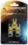 Harmony Audio HA-MIDI150 Car Stereo Fuseholder 3 Pack 150 Amp MIDI Fuses - Nickel