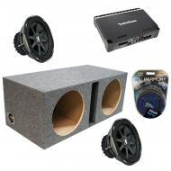 "Kicker Car Audio Dual 12"" Ported CVX12 Comp VX Subwoofer Enclosure Sub box with Rockford Fos..."