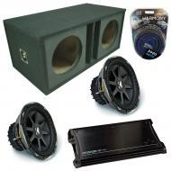 "Kicker Car Stereo Loaded Dual 15"" Ported CVX15 Comp VX Subwoofer Enclosure Sub box with ZX15..."